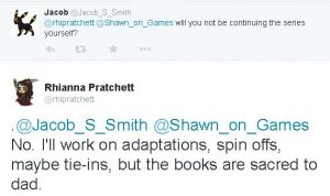 Sir Terry's daughter Rhianna has said she will not continue the Discworld novel series.